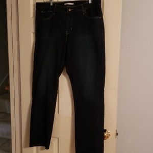 Levi's straight leg dark Denim